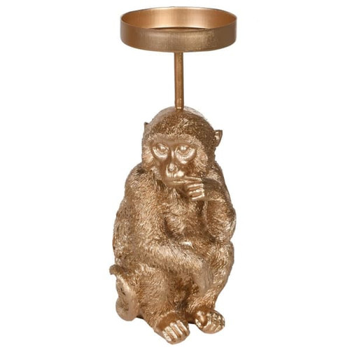 Puzzled Monkey Candleholder
