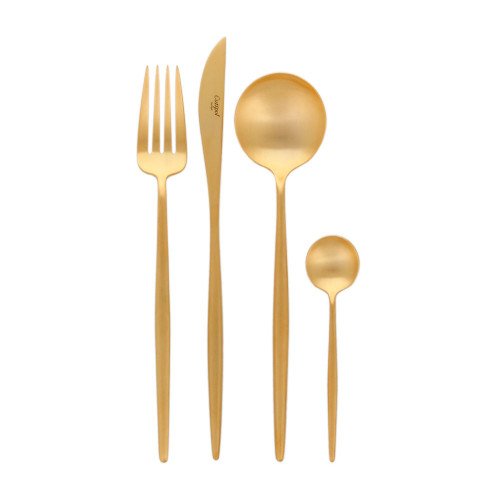 Gold Four Piece Cutlery Set