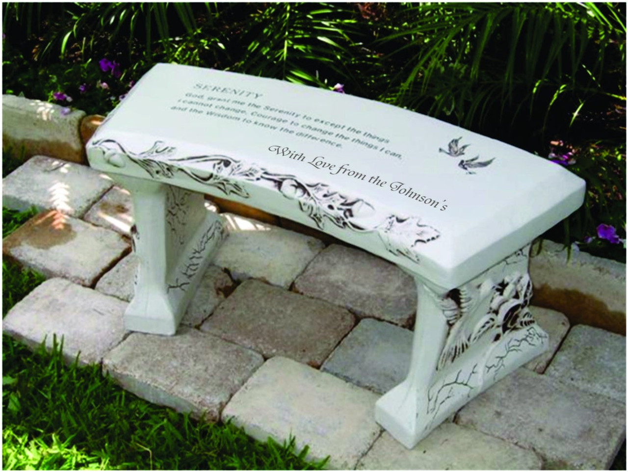 Stone Bench, Serenity Personalized