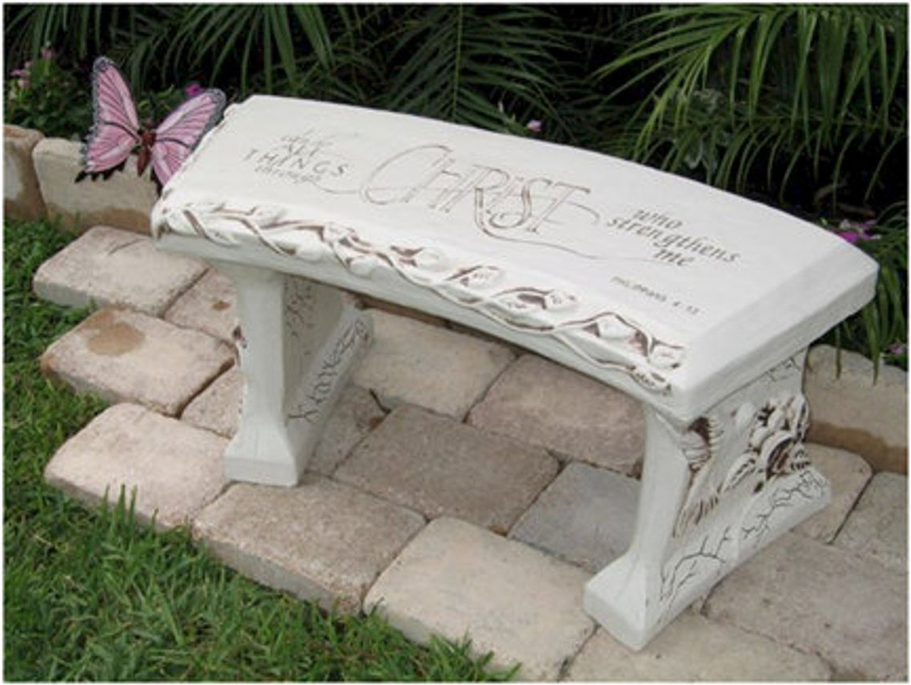 Stone Bench, Christ Stock