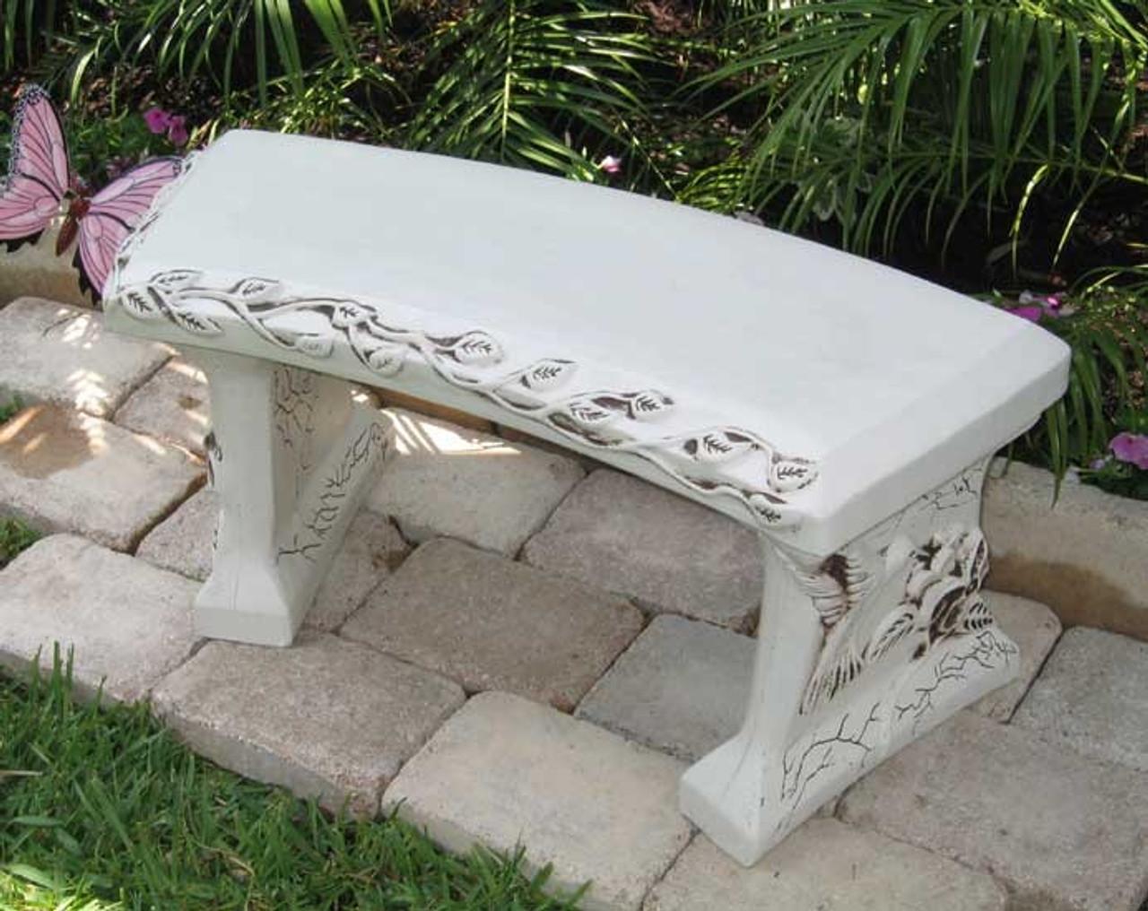Admirable Personalized Concrete Garden Bench Inzonedesignstudio Interior Chair Design Inzonedesignstudiocom
