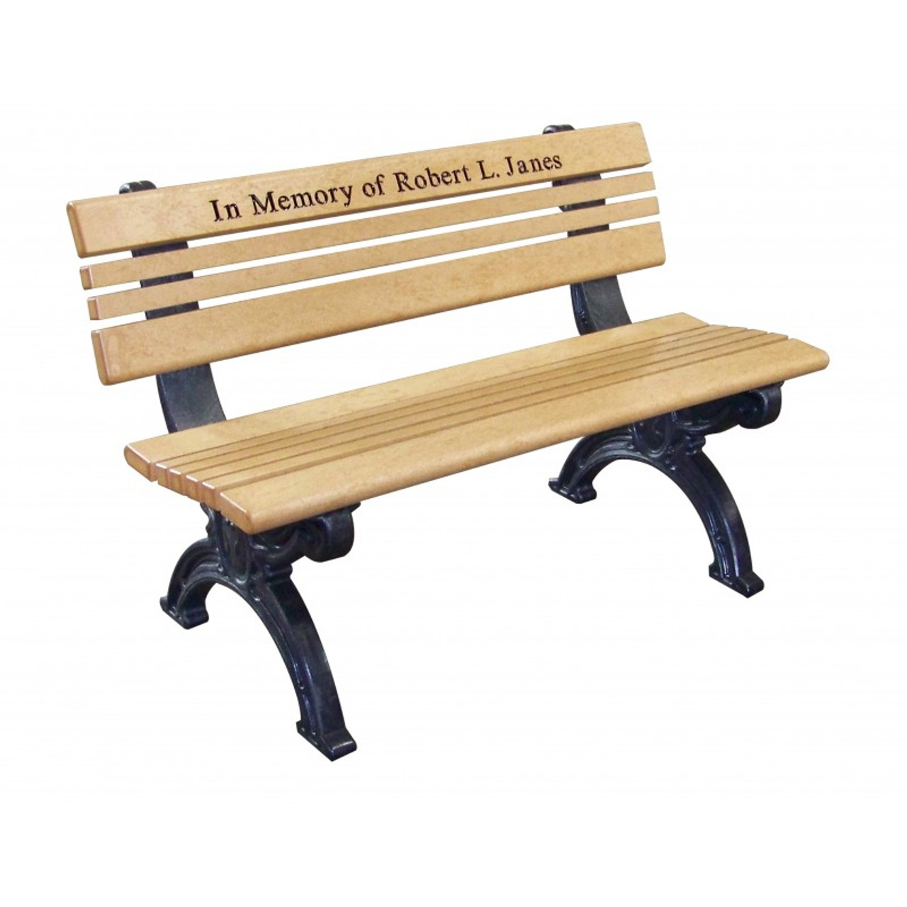 Cambridge Engraved 4 Ft. Backed Bench