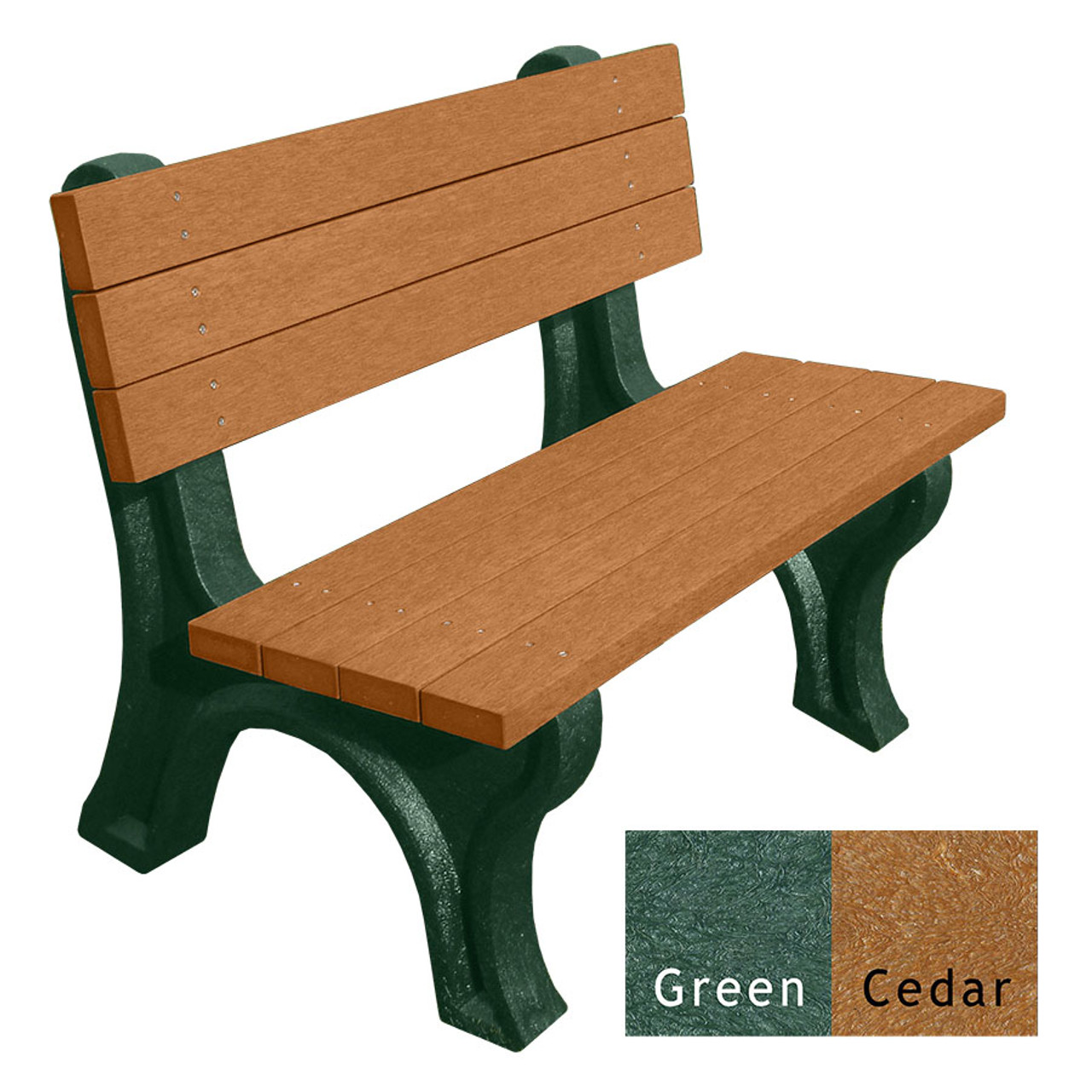 Deluxe Bench 4 Ft. Engraved Recycled Plastic Bench