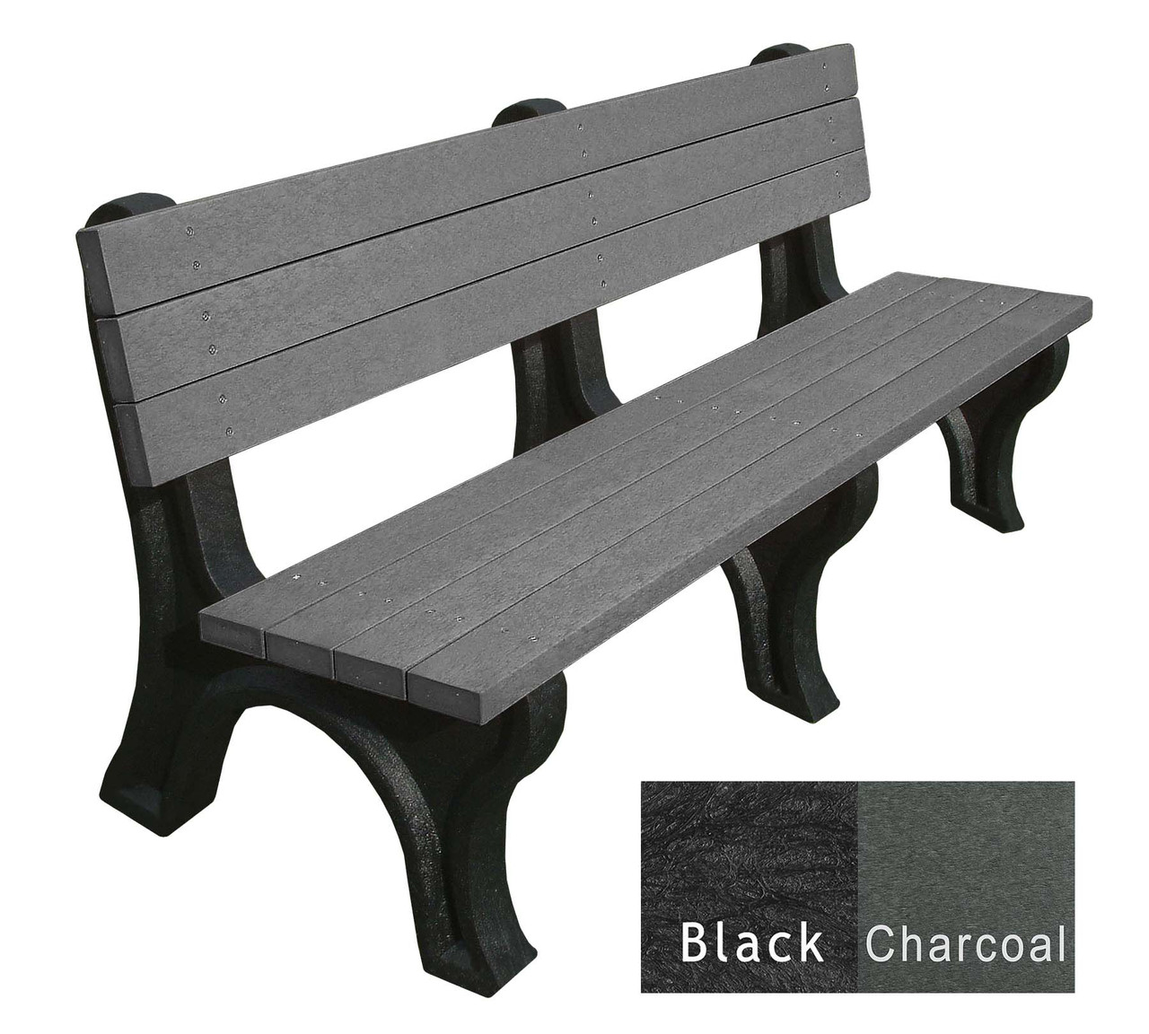 Deluxe Bench 6 Ft. Engraved Recycled Plastic Bench