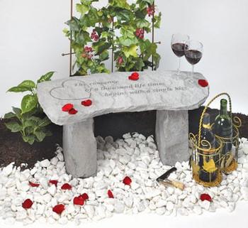 cast stone bench