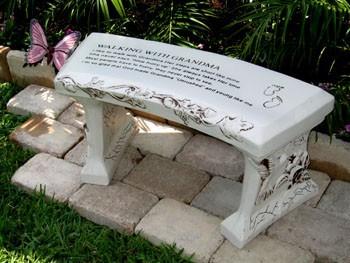 Grandpa concrete bench