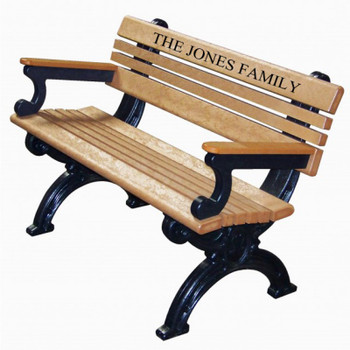 Engraved 4 ft Bench