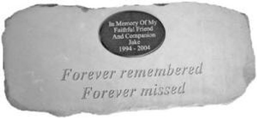 """""""Forever remembered forever missed.."""" Cast Stone Bench w/ Plaque"""