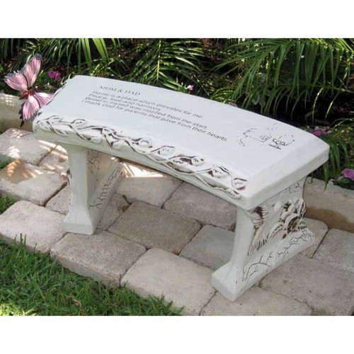 personalized concrete bench