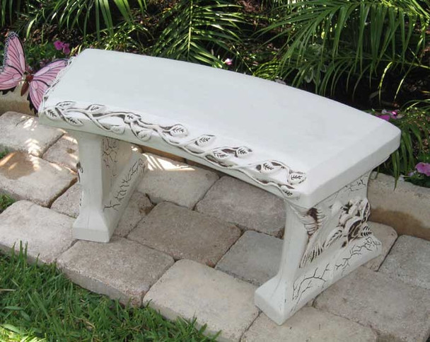 blank concrete bench