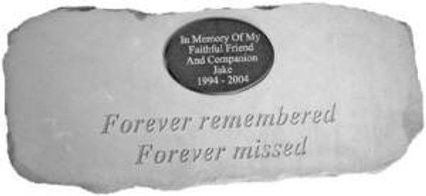 """Forever remembered forever missed.."" Cast Stone Bench w/ Plaque"