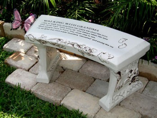Grandpa concrete bench