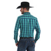 Wrangler Men's Performance Green/Royal Button Down Western Shirt MWP112M