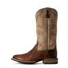 Ariat Men's Lockwood Buckskin Brown Round Toe Western Boots