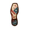 Durango Women's Lady Rebel American Flag Brown & White Cowboy Boots