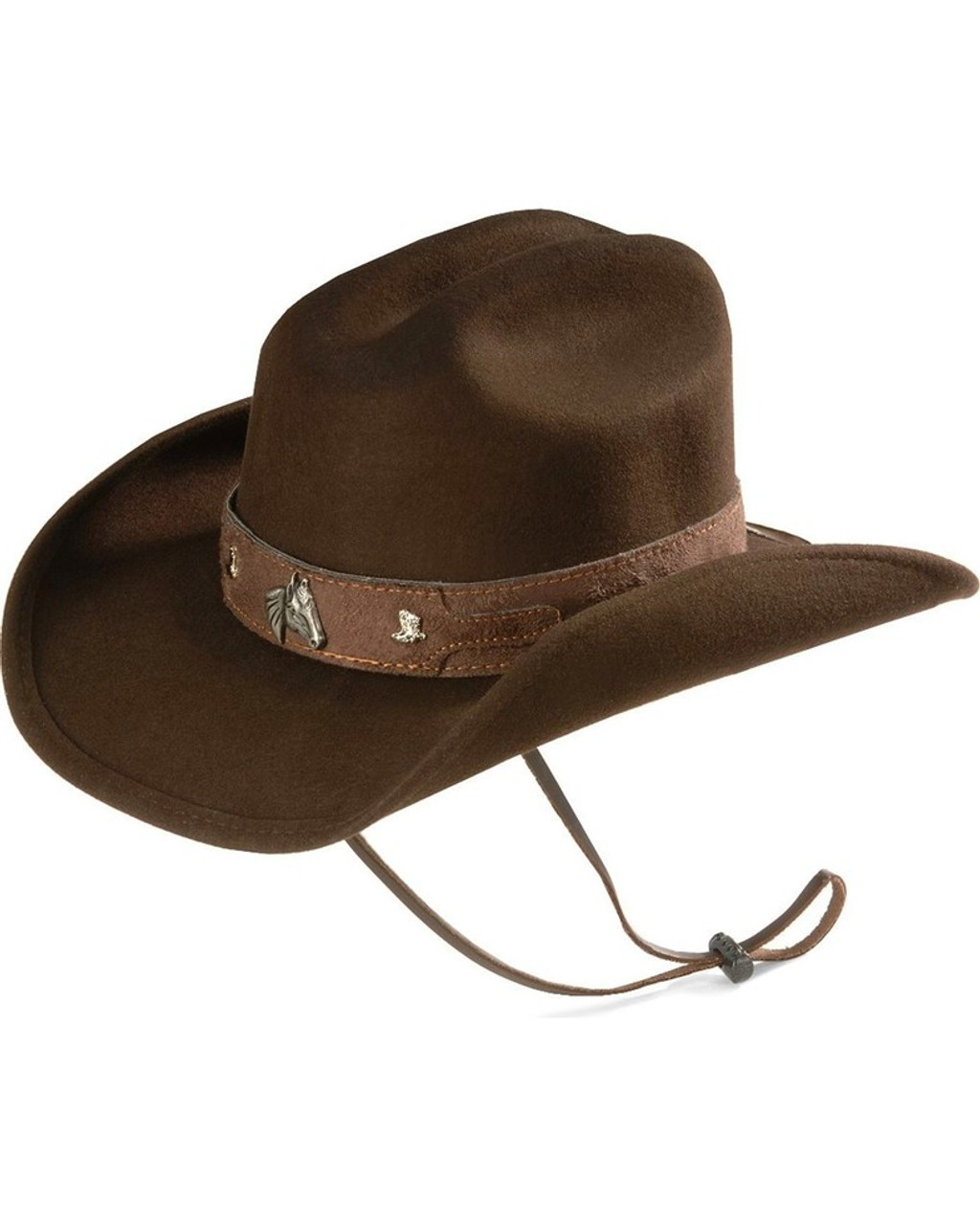 Bullhide Horsing Around Child s Brown Felt Cowboy Hat w Horse Concho 0483CH 5e522da6ce75