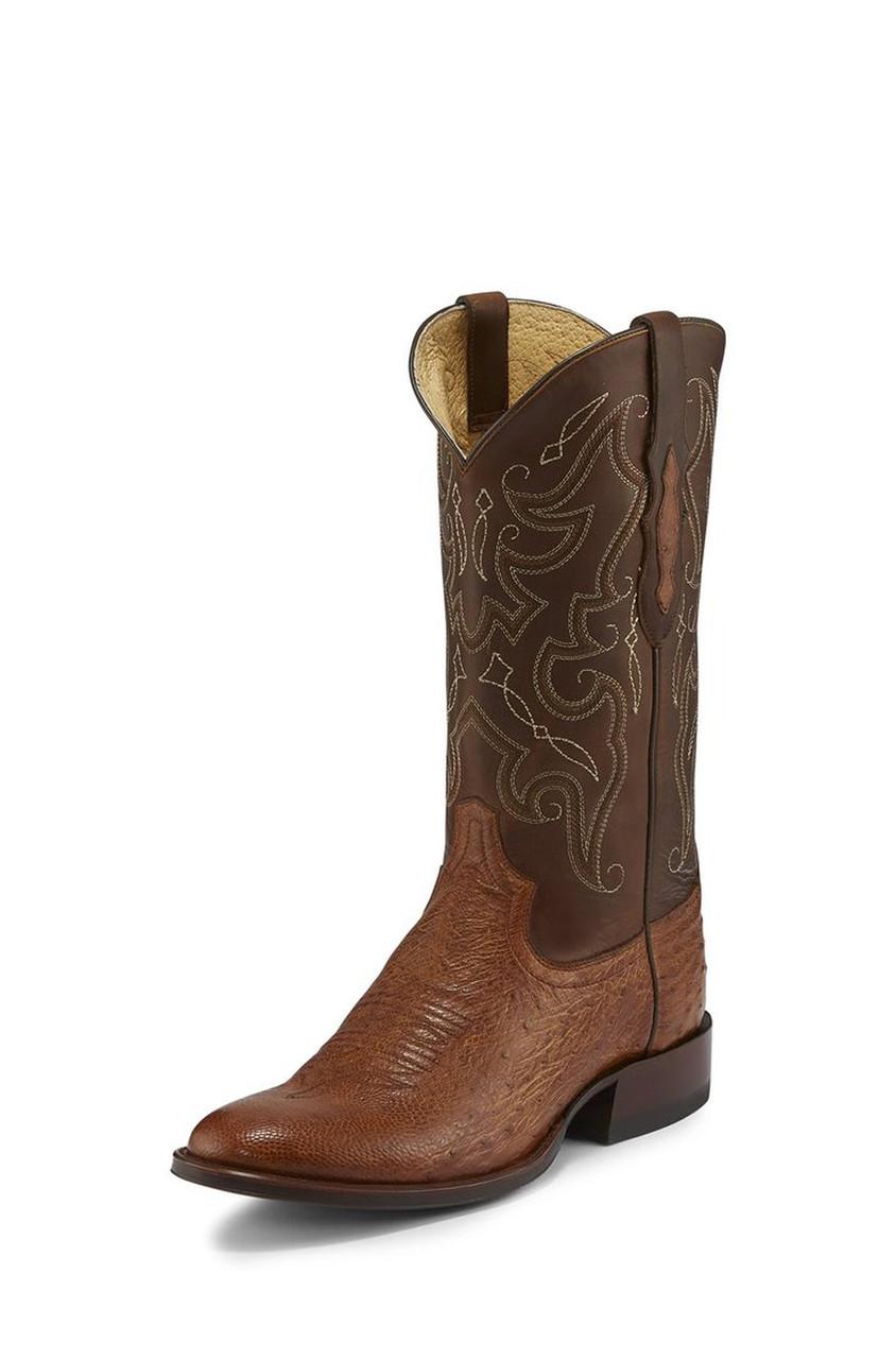 445d602cf51 Tony Lama Men's Saddle Patron Smooth Ostrich Cowboy Boots