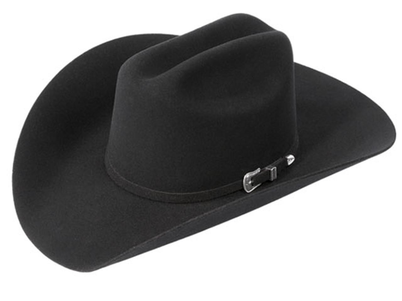 61c4f151ab2 BAILEY LIGHTNING 4X BLACK FELT COWBOY HAT 4140 - Jackson s Western