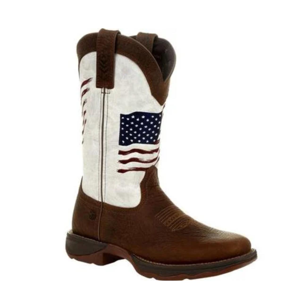Lady Rebel American Flag Brown \u0026