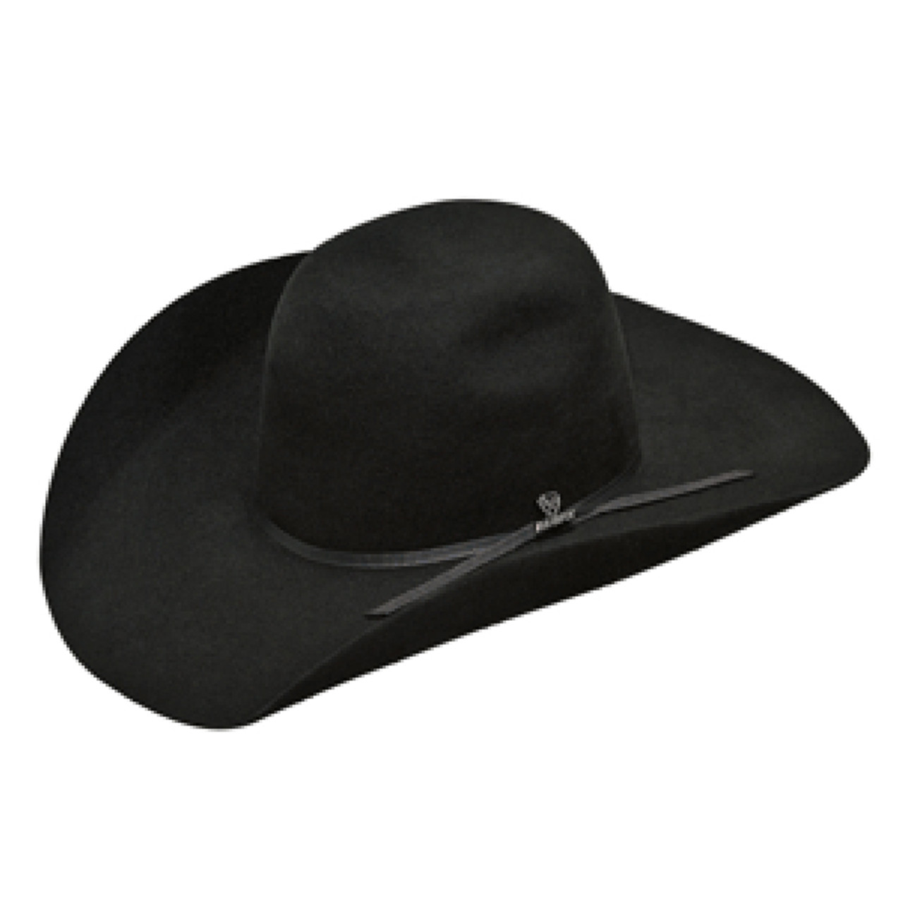 0d170a9356e ARIAT BLACK 2X WOOL PUNCHY CROWN FELT HAT A7520401 - Jackson s Western