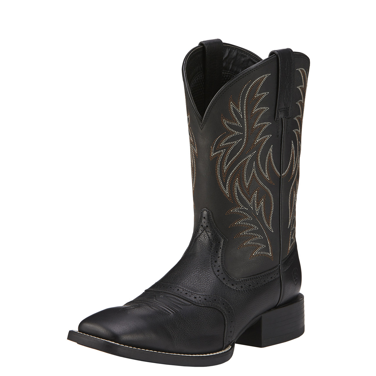 fd8b31ca394 Ariat Men's Sport Western Wide Square Toe Cowboy Boot Black Deertan ...