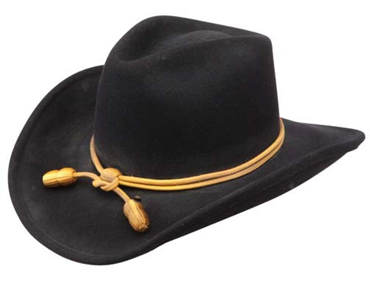 0b1a0d5442ef0 RESISTOL JOHN WAYNE THE FORT CRUSHABLE BLACK CAVALRY COWBOY HAT ...