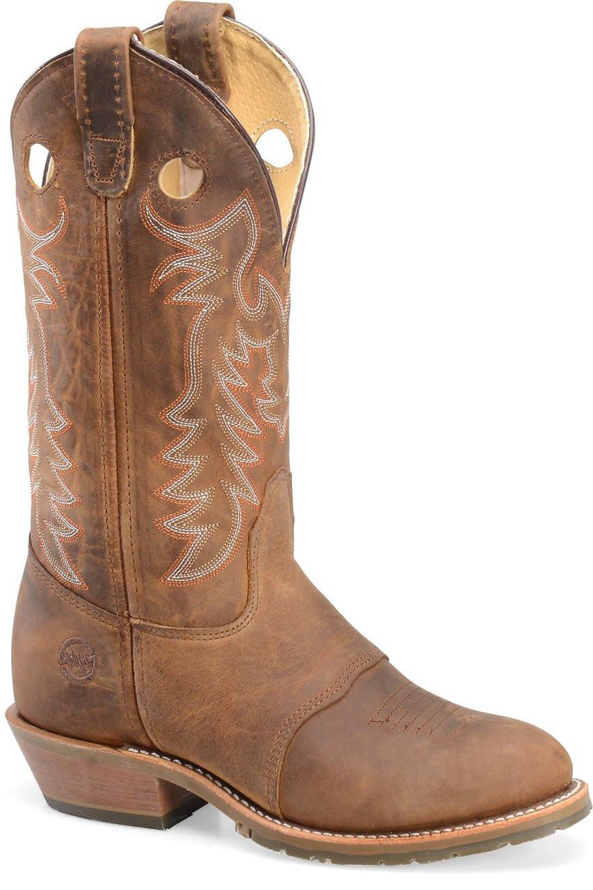 aa2d490dc5d Double H Women's Buckaroo Round Toe Western Work Boots - Jackson's ...