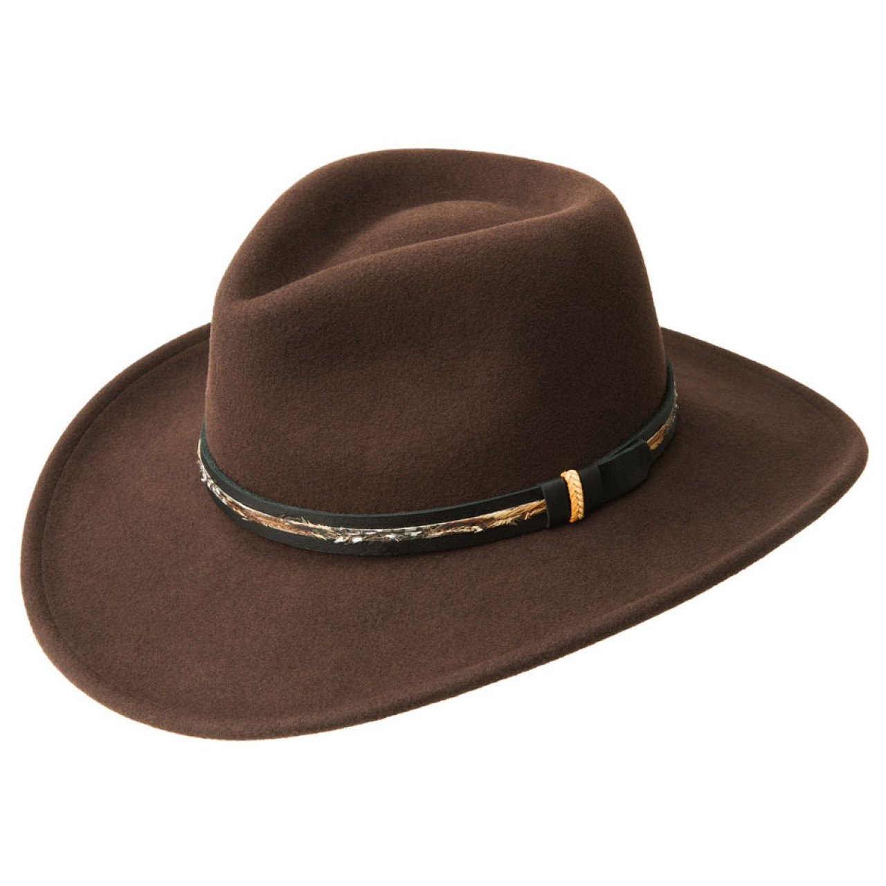 7006a178ff2 Bailey Recoil Fall Brown Soft Wool Felt Cowboy Hat W15LFA ...