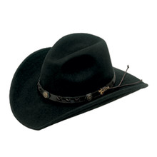 2a785bfc2ada3 DOUBLE S BLACK DAKOTA CRUSHABLE FELT COWBOY HAT 7211001