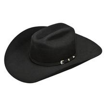 6657029989189 ARIAT BLACK WOOL FELT 3 PC HATBAND COWBOY HAT A7520001