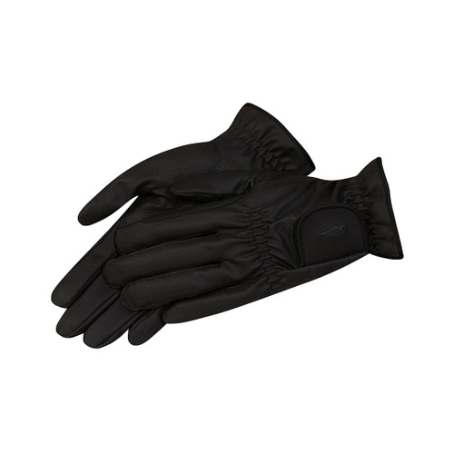 Kerrits Thin To Win Black Leather Schooling & Show Glove Black 30314