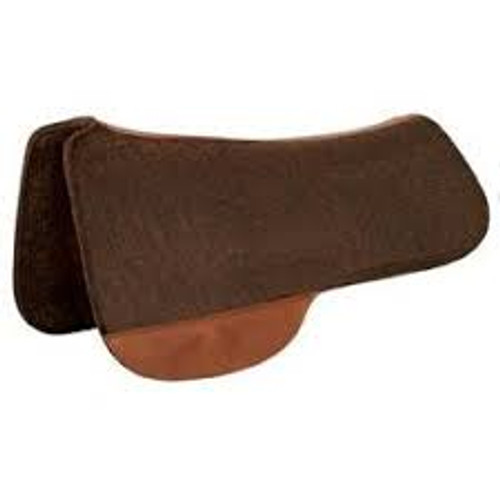 64315545310 Circle Y Tucker Full Brown Wool Felt Saddle Pad 3 4