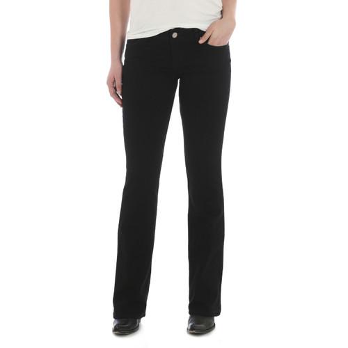 Wrangler Mid Rise Black Jean