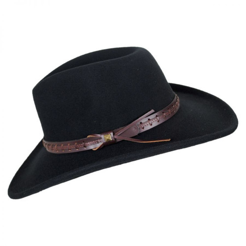 fbc1ab5d8c2 ... Bailey Firehole Black Western Cowboy Hat Crushable Wool Felt ...
