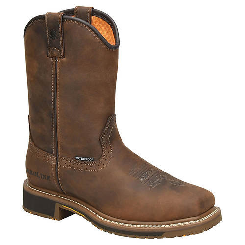 Carolina Men's Anchor Waterproof Square Pull On Roper Work Boot