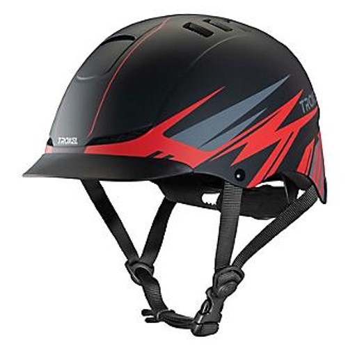 Troxel TX Riding Schooling Helmet Red Flash