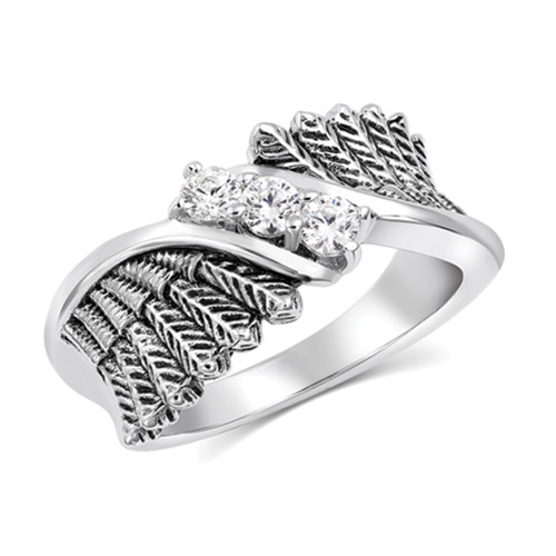 Starlight Feather Glory Ring Size 8