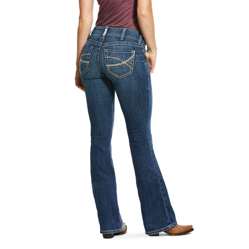 Ariat Women's REAL Mid Rise Stretch Carlie Western Jean