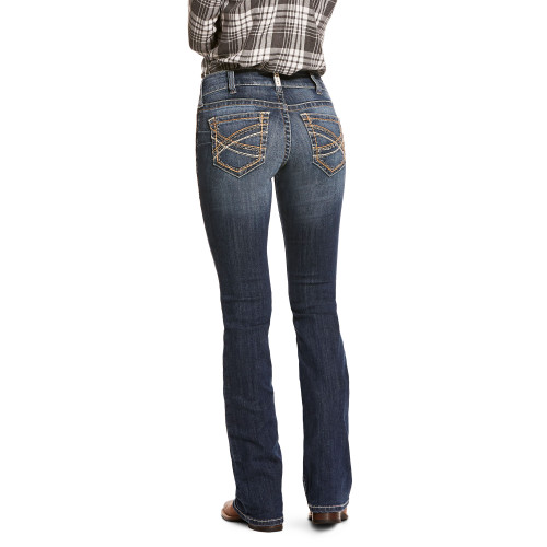 Ariat Women's R.E.A.L. Entwined Mid Rise Boot Cut Western Jean