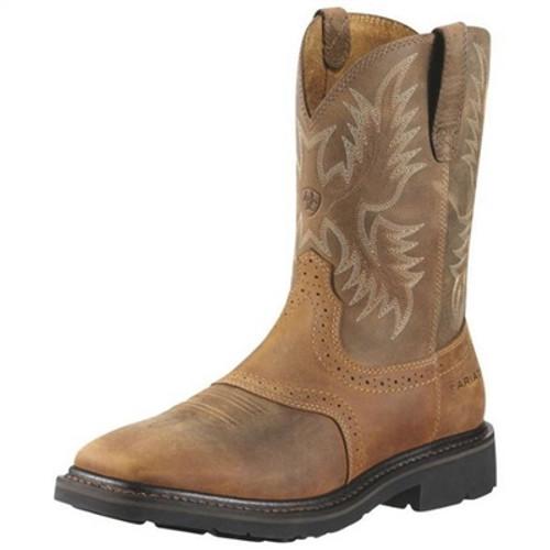 Ariat Men's Sierra Steel Square Toe Western Work Boots 10010134