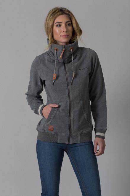 Kimes Ranch Women's Augier Charcoal Fleece Zip Jacket