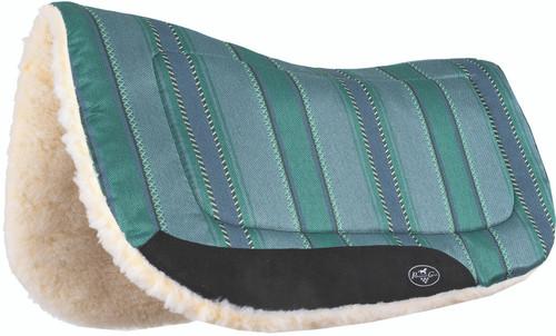 Professional's Choice Laredo Contoured Barrel Saddle Pad Turquoise