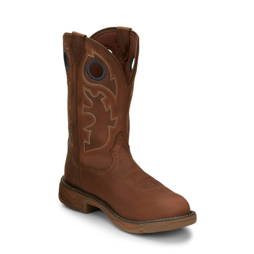 Men's Justin Rush Brown Composite Toe Western Work Boot SE4334