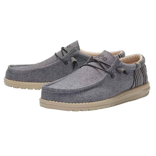 Hey Dude Men's Wally Funk Anchor Grey Casual Comfort Shoe