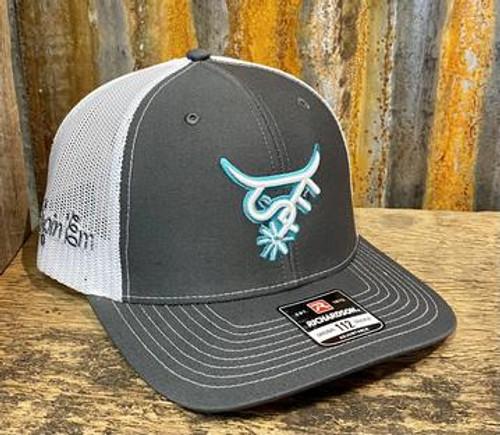 Spin Em Rodeo Tohonta Grey Trucker Hat Western Cap