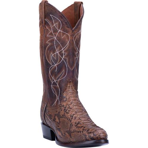 Dan Post D3037 Manning Brown Python Snakeskin Cowboy Boots