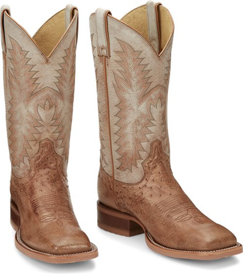 Justin Men's Smooth Ostrich Western Cowboy Boots JE800