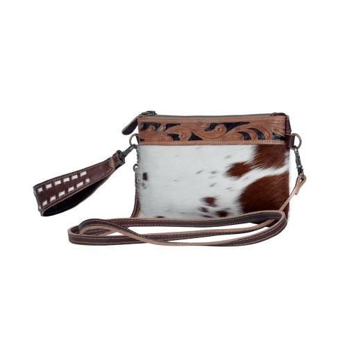 Myra Bags Western Delight Hairon Leather Belt Bag Wristlet S-3305