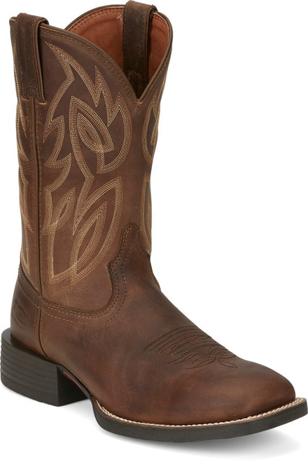 Justin SE7510 Men's Canter Dusty Brown Square Toe Western Cowboy Boot