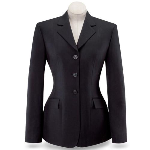 RJ Classics English Black Herringbone Essential Devon Show Coat D8117